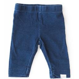 Miles Baby Miles Baby - Legging en Tricot pour Fillette/Girl Legging Knit, Aspect Denim/Denim Aspect