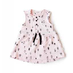Miles Baby Miles Baby - Robe en Tricot pour Bébé/Baby Dress Knit, Rose/Pink
