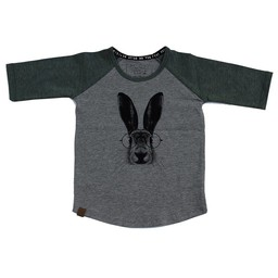L&P L&P - Chandail Manches 3/4 Lièvre/Hare 3/4 Sleeves Jersey, Gris et Vert/Grey and Green