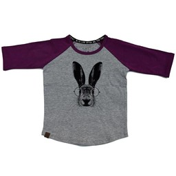 L&P L&P - Chandail Manches 3/4 Lièvre/Hare 3/4 Sleeves Jersey, Gris et Mauve/Grey and Purple