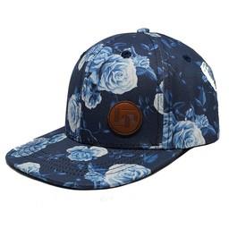 L&P L&P - Casquette Victoria/Victoria Cap, Fleuri Bleu/Blue Flower