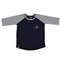 L&P L&P - Chandail Manche 3/4 Basic/Basic 3/4 Sleeves Jersey, Marine et Gris/Navy and Grey
