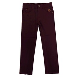 L&P L&P - Pantalon Coupe Étroite/Skinny Cut Pants, Bourgogne/Burgundy