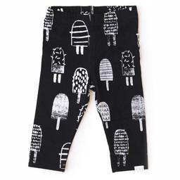 Miles Baby Miles Baby - Legging en Tricot pour Fille/Girl Legging Knit, Noir/Black