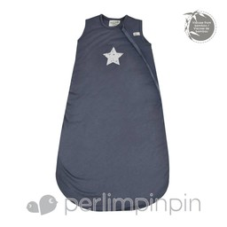 Perlimpinpin Perlimpinpin - Sac De Nuit en Bambou, Étoile/Bamboo Sleep Bag, Star, Marine/Navy
