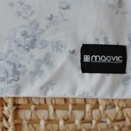 Maovic Maovic - Oreiller de Sarrasin/Buckwheat Pillow, Fleurs Grises/Grey Flowers