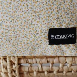Maovic Maovic - Oreiller de Sarrasin/Buckwheat Pillow, Fleurs Jaune/Yellow Flowers