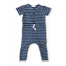 Miles Baby Miles Baby - Combinaison en Tricot pour Bébé/Baby Playsuit Knit, Rayé Marine et Blanc/Navy and White Stripes