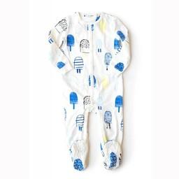 Miles Baby Miles Baby - Pyjama en Tricot pour Bébé/Baby Sleeper Knit, Bleu/Blue