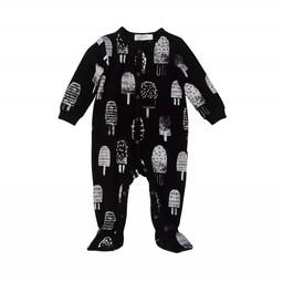 Miles Baby Miles Baby - Dormeuse en Tricot pour Bébé/Baby Sleeper Knit, Noir/Black