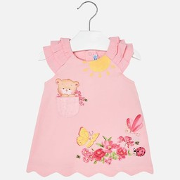 Mayoral Mayoral - Robe Ourson/Teddy Dress, Rose/Pink
