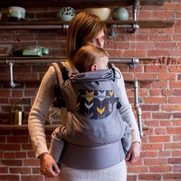 Gustine Gustine - Porte-Bébé/Baby Carrier, Bébé/Baby, Gris avec Poche Chevron/Grey With Chevron Pocket
