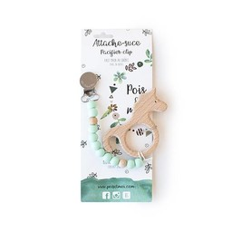 Pois et Moi Pois et Moi - Duo Attache-Suce et Jouet de Dentition Licorne/Duo Pacifier Clip and Unicorn Teether, Menthe/Mint