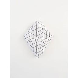 Zak et Zoé Zak et Zoé - Bouillotte/Heat and Cold Pad, Blanc Géométrique/Geometric White