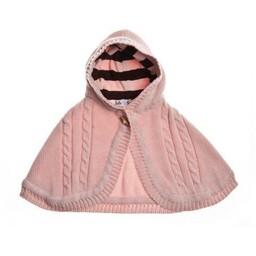 Beba Bean Beba Bean - Cape En Tricot/Knit Cape, Rose/Pink, 6-24 mois/months