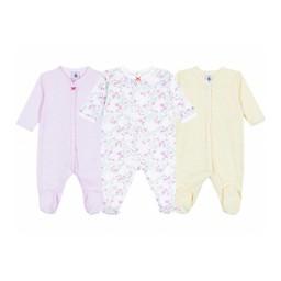 Petit Bateau Petit Bateau - Paquet de 3 Pyjamas Lo Metisse/Lo Metisse Pack of 3 Pajamas, Couleurs Assorties/Assorted Colors