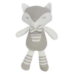 Living Textiles Living Textiles - Peluche en Tricot Charlie le Renard Gris Blanc/Knit Plush Toy Charlie the Grey White Fox