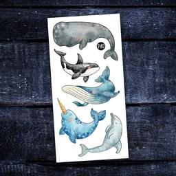 Pico Tatouages Temporaires Pico Tatoo - Tatouages Temporaires/Temporary Tattoo, Les Belles Baleines