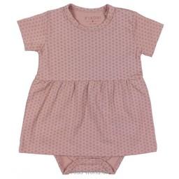 Fixoni Fixoni- Robe Cache-Couche/Body Dress, Rose des Bois/Woodrose