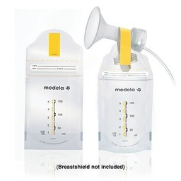 Medela Medela - Paquet de 20 Sacs de Conservation du Lait Maternel Pump and Save/Pack of 20 Pump And Save Breastmilk Bags