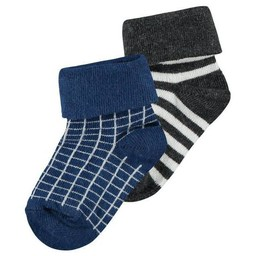 Noppies Noppies - Bas Lilburn Paquet de 2/Lilburn Socks 2 Pack , Kobalt Pâle/Light Kobalt