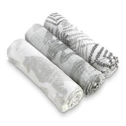 Aden + Anais Aden et Anais - Paquet de 3 Couvertures Douces et Soyeuses/3-Pack Silky Soft Swaddles, Foragers