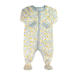 Coccoli Coccoli- Pyjama à Pattes/Footie, Fleurs Citron/Lemon Floral
