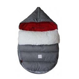 7 A.M 7A.M. - Housse LambPOD + Base/LambPOD, Gris et Rouge/Grey and Red