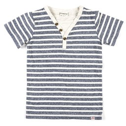 Appaman Appaman - T-Shirt Houston/Houston Tee, Rayures Marine Chiné/Heather Navy Stripe