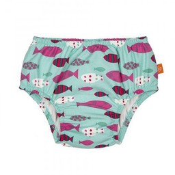 Lassig Lässig - Couche de Piscine/Swim Diaper, Monsieur Poisson/Mr Fish