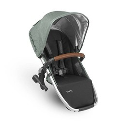 UPPAbaby UPPAbaby Vista 2018 - Siège Auxilliaire pour Poussette Base Aluminium/Rumble Seat for Stroller Aluminium Frame, Cuir Brun/Brown Leather