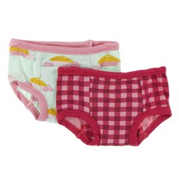 Kickee Pants Kickee Pants - Ensemble de 2 Sous-Vêtements D'entrainement/Set of 2 Training Pants, Tarte aux Pommes\Apple Pie Blossom