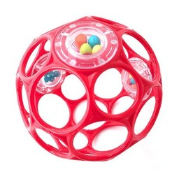 Oball Oball - Balle Hochet/Rattles, Rouge/Red