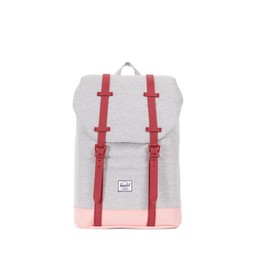 Herschel Herschel - Sac à Dos pour Junior Retreat/Retreat Backpack Youth, Gris Pâle et Rouge/Light Grey and Red