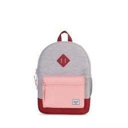 Herschel Herschel - Sac à Dos Héritage Junior/Heritage Backpack Youth, Gris Pâle, Pêche et Rouge/Light Grey, Peach and Red