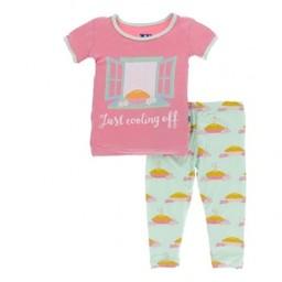 Kickee Pants Kickee Pants - Pyjama 2 Pièces/2Pieces Pajama, Tarte aux Pommes/Apple Pie Blossom