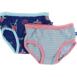 Kickee Pants Kickee Pants - Ensemble de 2 Sous-Vêtements pour Fille/Set of 2 Girl Underwear, Limonade Rose/Pink Lemonade