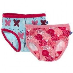 Kickee Pants Kickee Pants - Ensemble de Sous-Vêtements pour Fille/Set of 2, Girl Underwear, Papillon Tallulah'S/Tallulah' Butterfly