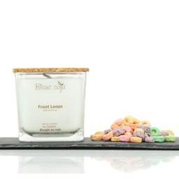 BlancSoja Blanc Soja - Bougie au Soja Céréales Fruitées, 420 ml/Froot Loops Soja Candle, 420 ml
