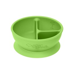 Green Sprouts Green Sprouts - Bol d'Apprentissage à Compartiments en Silicone/Silicone Learning Compartment Bowl, Vert/Green