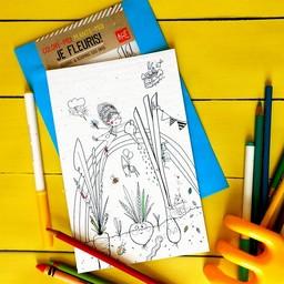 Rue Tabaga Rue Tabaga - Coloriage Magique/Magic Coloring, Jardin/Garden