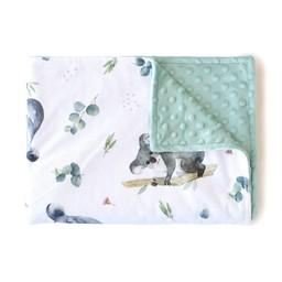 Olé Hop Olé Hop - Couverture en Peluche/Minky Blanket, Koalas