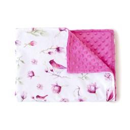 Olé Hop Olé Hop - Couverture en Peluche/Minky Blanket, Magnolias