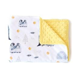 Olé Hop Olé Hop - Couverture en Peluche/Minky Blanket, Manchots/Penguins