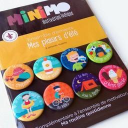 Minimo Minimo - Ensemble D'aimants de Motivation/Motivation Magnets Set, Mes Plaisirs D'été/My Summer Pleasures