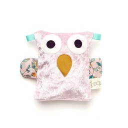 Raplapla Raplapla - Bébé Hibouillotte/Baby Owl Soother, Rose/Pink