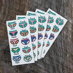 Pico Tatouages Temporaires Pico Tatoo - Tatouages Temporaires/Temporary Tattoos, 5xLa Récréation-La Propreté-Les Bobettes/5xToilet Learning