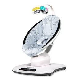 4moms 4moms - Siège pour Bébé MamaRoo 4.0/MamaRoo 4.0 Infant Seat, Peluche en Argent/Silver Plush