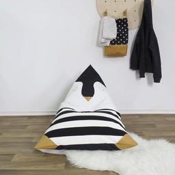 Cyan Degre Cyan Degre - Pouf à Billes/Bean Bag, Pingouin/Pinguin