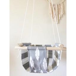 Cyan Degre Cyan Degre - Balançoire Suspendue/Suspended Swing, Plume Grise/Grey Feather